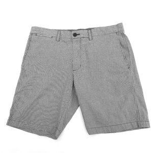 Banana Republic Aiden Fit Shorts Gray Gingham 33